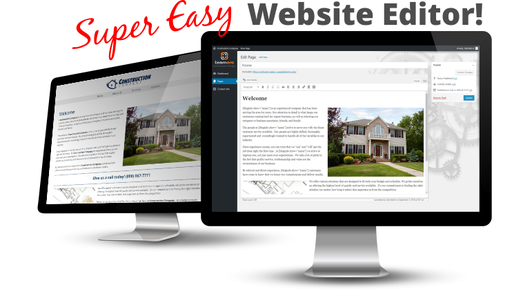 Super Easy Website Editor - WordPress Website Company in Milan IL